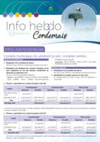 Info'Hebdo n°28 du jeudi 31 août  2017