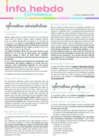 Info'Hebdo n° 37 du jeudi 3 novembre 2016