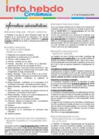 Info'Hebdo n° 31 du jeudi 22 septembre 2016