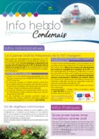 Info'Hebdo n°41 du jeudi 30 novembre 2017