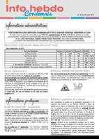 Info'Hebdo n°25 du jeudi 22 juin  2017