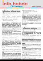 Info'Hebdo n°34 du Jeudi 13 Octobre 2016