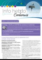 Info'Hebdo n°33 du jeudi 5 octobre  2017