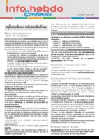 Info'Hebdo n°22 du jeudi 1er juin  2017