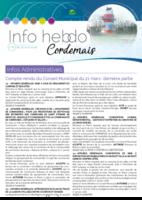 Info'Hebdo n°16 du jeudi 19 avril 2018