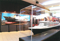 Exposition Queen Mary 2 Philippe Plisson maquette bateau