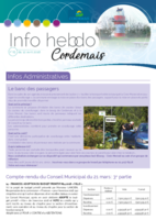 Info'Hebdo n°15 du jeudi 12 avril 2018