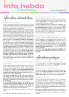 Info'Hebdo n° 38 du jeudi 10 novembre 2016
