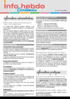 Info'Hebdo n° 14 du jeudi 7 avril 2016
