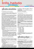 Info'Hebdo n° 27 du jeudi 25 août 2016