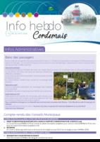 Info'Hebdo n°13 du jeudi 29 mars 2018