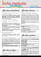 Info'Hebdo n° 40 du jeudi 24 novembre 2016