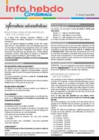 Info'Hebdo n° 13 du jeudi 31 mars 2016
