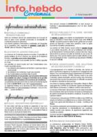 Info'Hebdo n°10 du jeudi 9 mars 2017