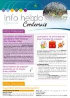 Info'Hebdo n°22 du jeudi 31  mai 2018