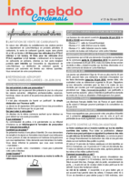 Info'Hebdo n° 21 du jeudi 26 mai 2016