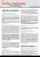 Info'Hebdo n° 36 du jeudi 27 octobre 2016
