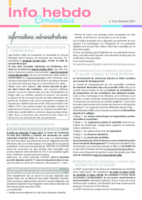 Info'Hebdo n°8 du jeudi 23 février 2017