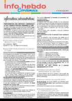 Info'Hebdo n°24 du jeudi 15 juin  2017