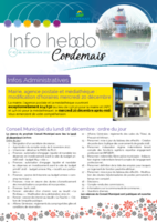 Info'Hebdo n°43 du jeudi 14 décembre 2017