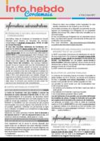 Info'Hebdo n°9 du jeudi 2 mars 2017