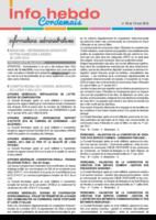 Info'Hebdo n° 20 du jeudi 19 mai 2016