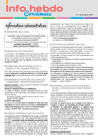 Info'Hebdo n° 1 du jeudi 5 janvier 2017