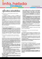 Info'Hebdo n° 42 du jeudi 8 décembre 2016