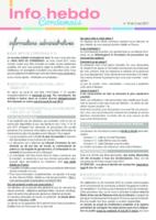 Info'Hebdo n°18 du vendredi 5 mai 2017