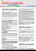 Info'Hebdo n° 19 du jeudi 12 mai 2016