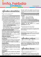 Info'Hebdo n°23 du jeudi 8 juin  2017