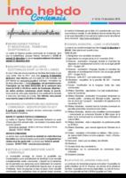 Info'Hebdo n° 43 du jeudi 15 décembre 2016