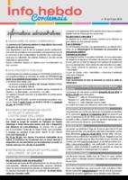 Info'Hebdo n° 23 du jeudi 9 juin 2016