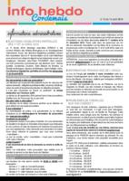 Info'Hebdo n° 15 du jeudi 14 avril 2016