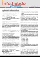 Info'Hebdo n° 26 du jeudi 30 juin 2016
