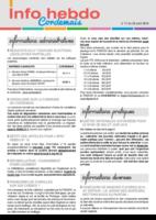 Info'Hebdo n° 17 du jeudi 28 avril 2016