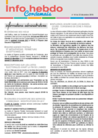 Info'Hebdo n° 44 du jeudi 22 décembre 2016