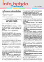Info'Hebdo n°2 du jeudi 12 janvier 2017