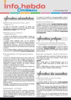 Info'Hebdo n° 35 du jeudi 20 octobre 2016