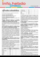 Info'Hebdo n° 33 du jeudi 6 octobre 2016