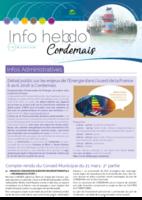 Info'Hebdo n°14 du jeudi 5 avril 2018