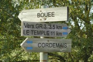 Panneaux des sentiers de randonnées