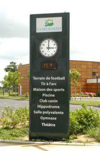 Totem rue des sports Cordemais